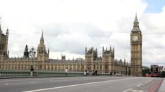 Big Ben and Red London Bus Stock Footage