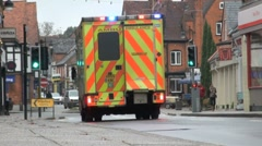 Ambulance and Siren - stock footage