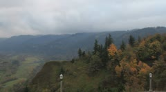Fall Colors along Scenic Columbia River Gorge in Portland Oregon Stock Footage