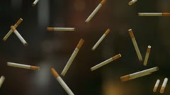 Falling cigarettes Stock Footage