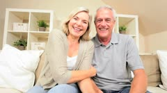 Mature Couple Using Online Web Chat - stock footage