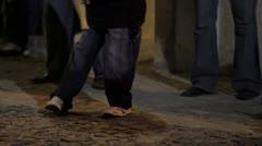 Boy's feet dancing Stock Footage