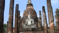 Buddha statue zoom in - stock footage