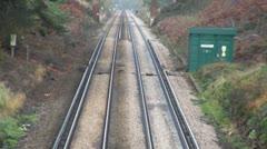Railway Tracks Stock Footage