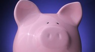 Spinning Piggy Bank Stock Footage