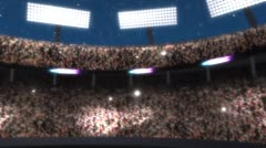 Packed Stadium Stock Footage