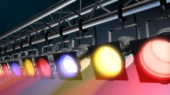 Spotlights on Lighting Truss Stock Footage