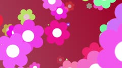 RETRO FLOWERS BG 10 Stock Footage