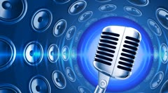Microphone with Speakers - stock footage