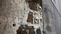 Inside the Skull Tower _2 Stock Footage