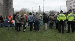 Occupy Cardiff Stock Footage