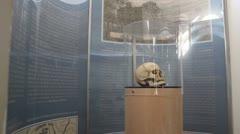 Inside the Skull Tower; Skull of Stevan Sinđelić Stock Footage