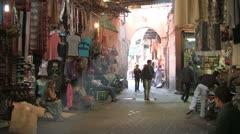 Souks in Marrakesh Stock Footage