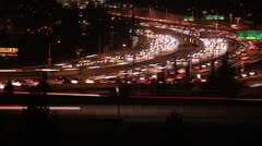 4K Seattle Night Traffic, Time Lapse Stock Footage