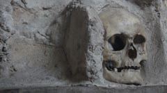 Inside the Skull Tower (close up of the skull _1) Stock Footage