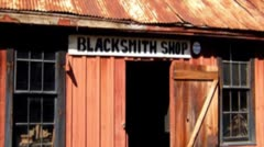 Old Wild West Blacksmith Shop Stock Footage