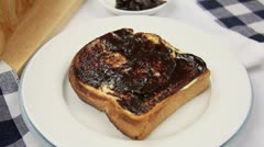 Vegemite Flag In Toast - stock footage