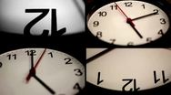 Black wall clock Stock Footage