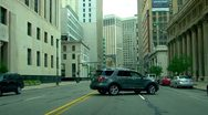 Stock Video Footage of Driving through downtown Detroit