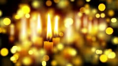 Candles shallow depth with bokeh Stock Footage