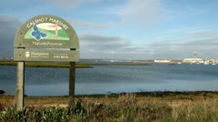 Calshot Marshes Nature Reserve, Hampshire, England Stock Footage