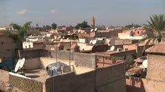 The rooftops of Marrakech Stock Footage