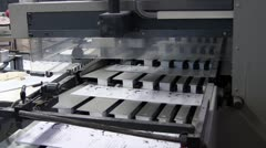 Printing factory Stock Footage