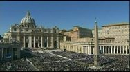 Stock Video Footage of Pope Benedict  canonization noon 10-24-11