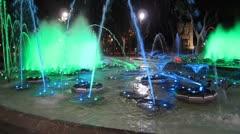 Perpignan Water Fountain 3 Stock Footage