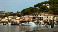 Pier In Porto Azzurro, Elba Island, Italy Stock Footage