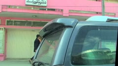 Driving car on the streets of Kabul in Afghanistan Stock Footage