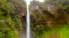 Very tall waterfall located in Rio Verde, Tungurahua province, Ecuador in a Stock Footage