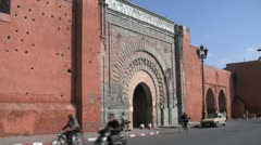 Bab Agnaou Gate, Marrakech Stock Footage