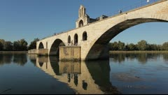 Pont d'Avignon, France - stock footage