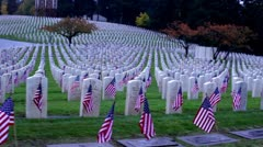 Military Memorial Cemetery (2/2) Stock Footage