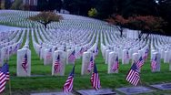 Stock Video Footage of Military Memorial Cemetery (2/2)