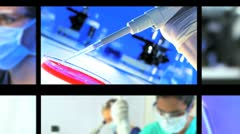 Multiple Montage Images of Medical Research - stock footage