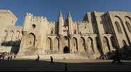 Pope's palace in Avignon, France Stock Footage