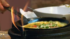 Omelette Stock Footage