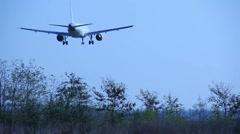 Landing airplane Stock Footage