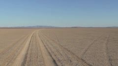 Dry Lake -Track - stock footage