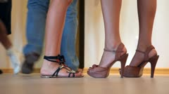 Female shoes Stock Footage
