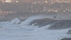 Alaskan Storms - Spit Road Waves 1 Stock Footage