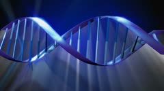 3D Magnification Render of DNA Spiral Stock Footage