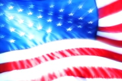 High Speed Camera USA Flag FX07 Slow Motion Loop - stock footage