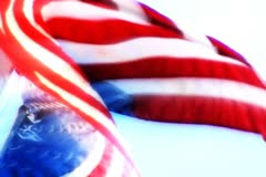 High Speed Camera USA Flag FX18 Slow Motion Loop - stock footage