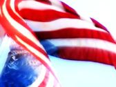 High Speed Camera USA Flag FX18 Slow Motion Loop Stock Footage