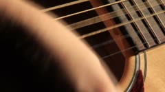 Acoustic Guitar Strumming 1 Stock Footage