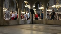 Aya Sofia interior Stock Footage