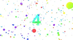 Countdown bubbles Leader. With Alpha - stock footage